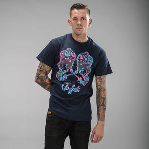 3d Lion Navy Blue T-Shirt for Junglists