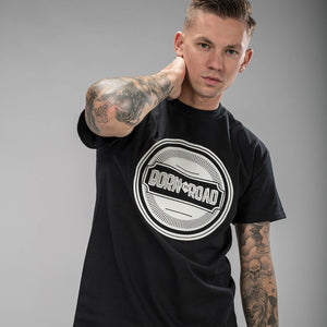 Born on Road Black T-Shirt