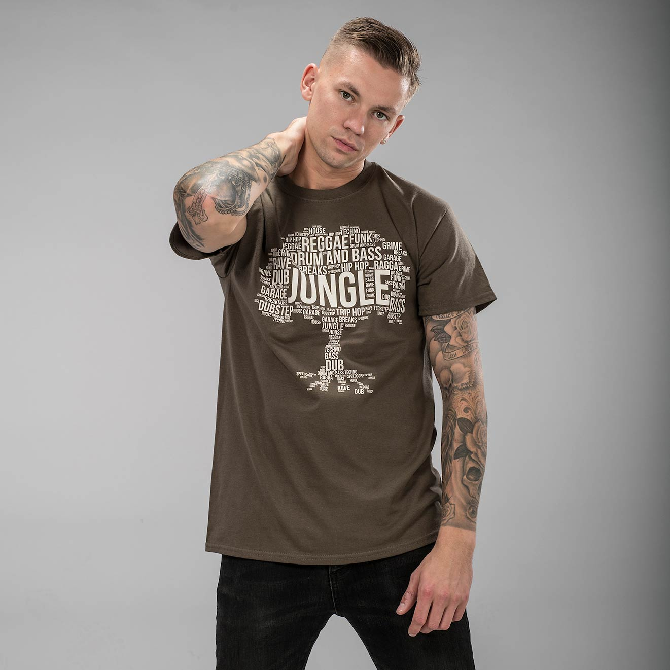 Olive Jungle Roots T-Shirt