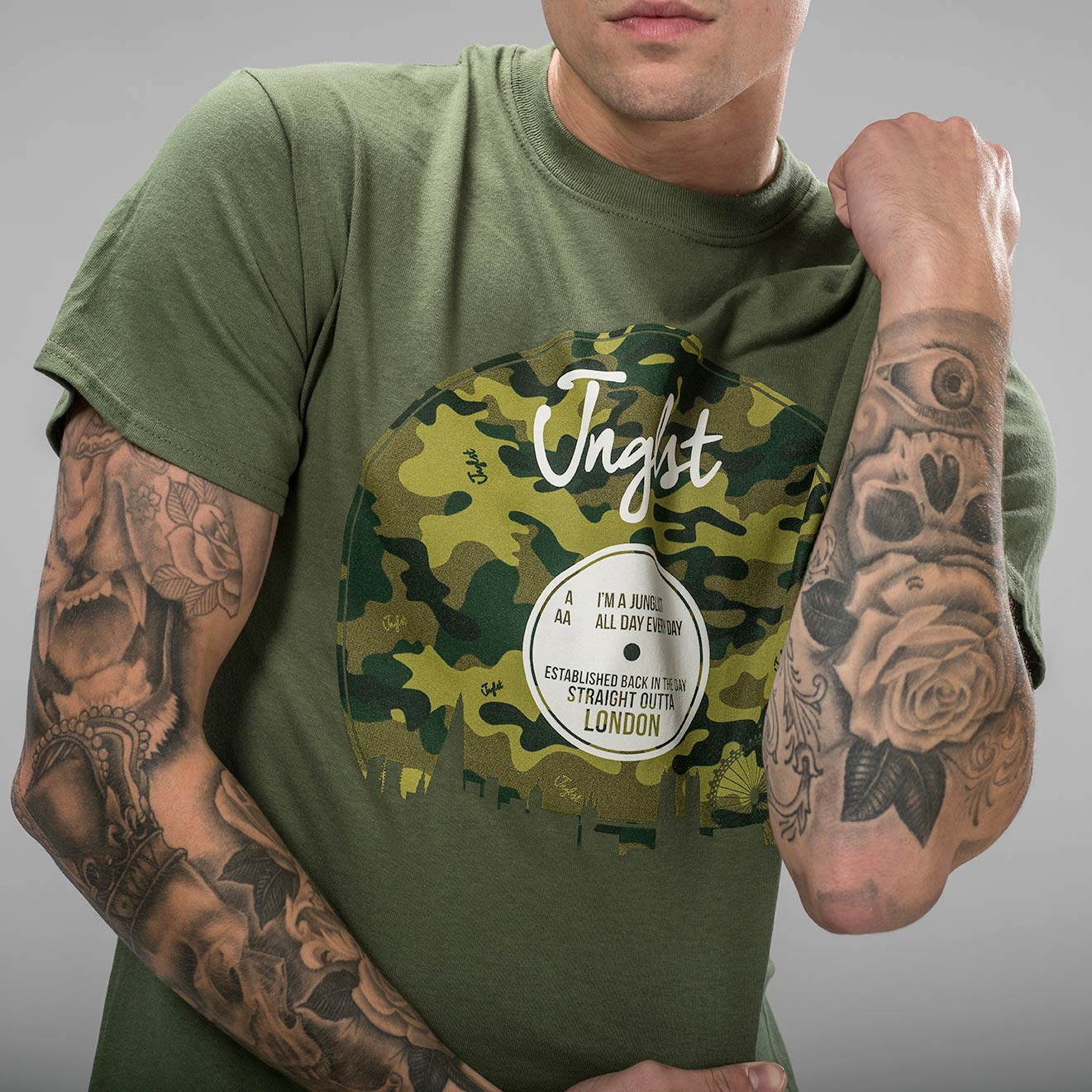 Camo Vinyl London All Day Junglist T-Shirt