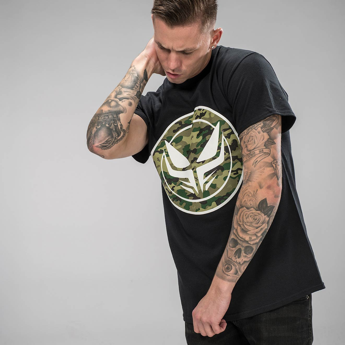 Dread Junglist Collab T-Shirt in Full Camo