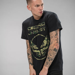 Dread Records Collab Black T-Shirt with Jnglst Clothing