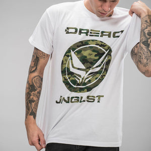 Dread Recordings Junglist Clothing White Camo T-Shirt