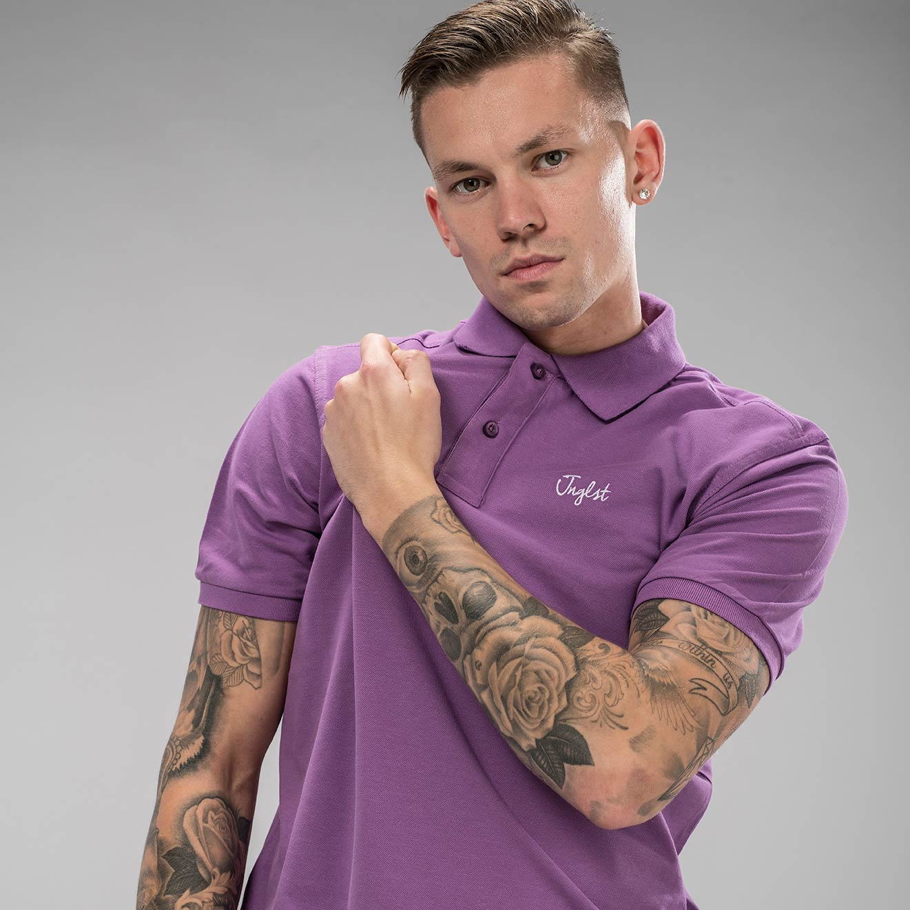 Junglist Polo in Orchid