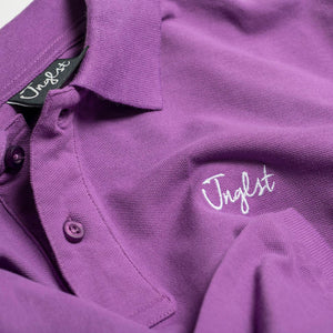 Close up of Junglist Logo on Polo Shirt