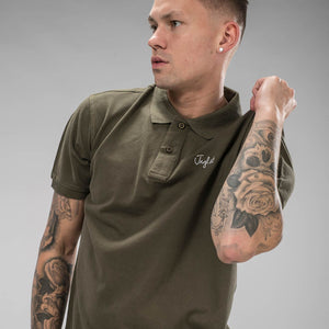 Olive Jnglst Polo Shirt for Drum and Bass heads