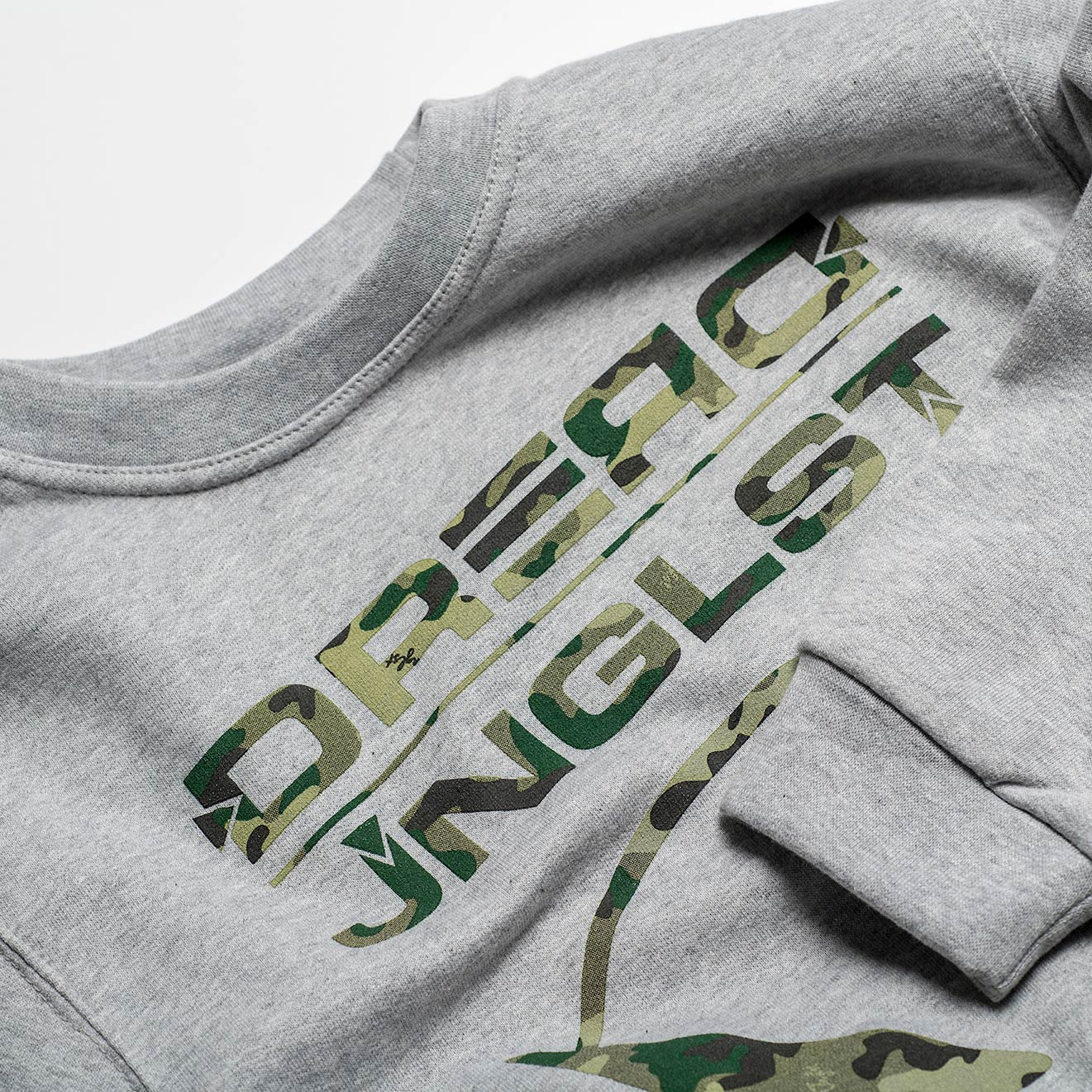 Close Up of Dread Jnglst Collab Sweatshirt