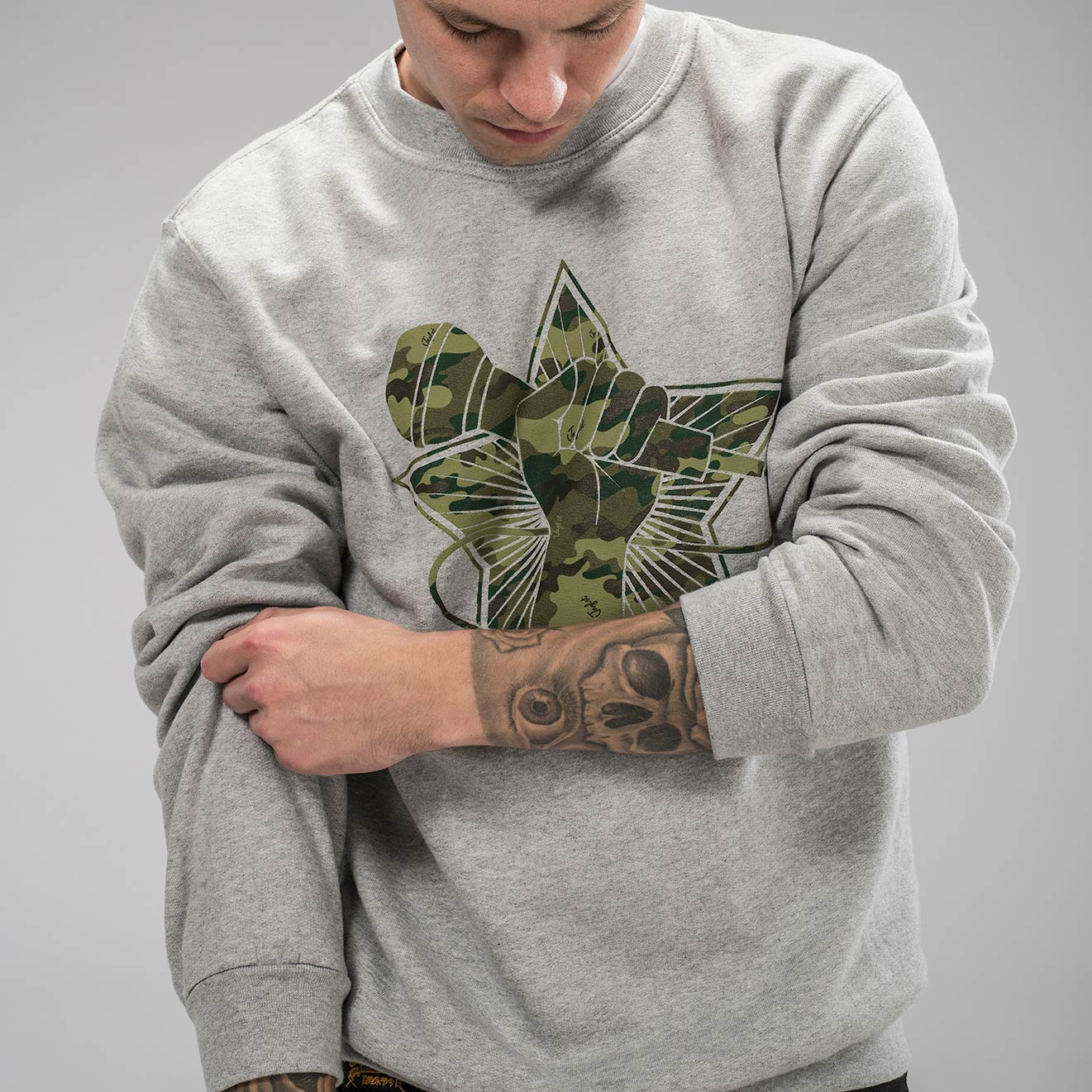 Grey Junglist Clothing Revolution Sweatshirt