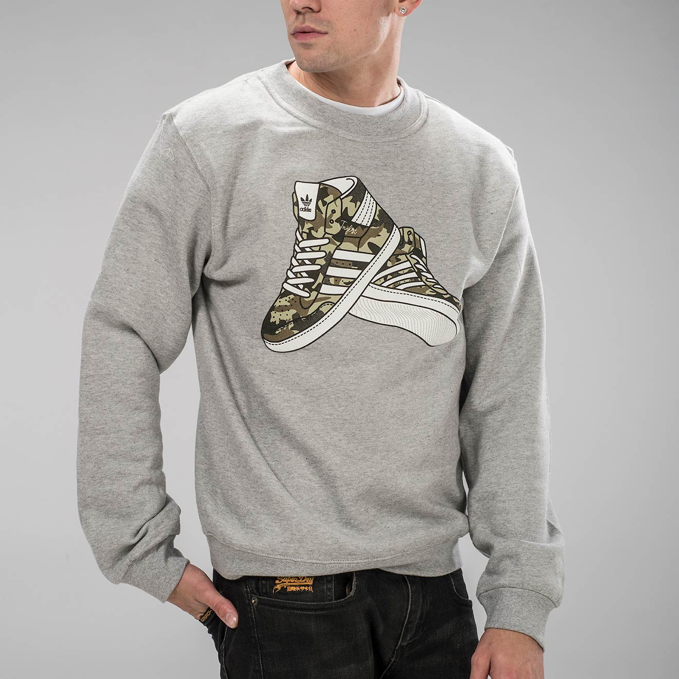 Grey Junglist Trainers Sweatshirt