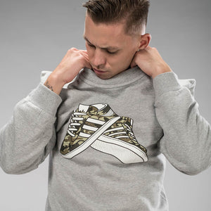 Grey Trainers Sweatshirt Camo Print