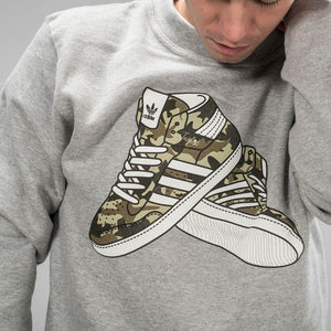 Close up of Junglist Trainer Sweatshirt