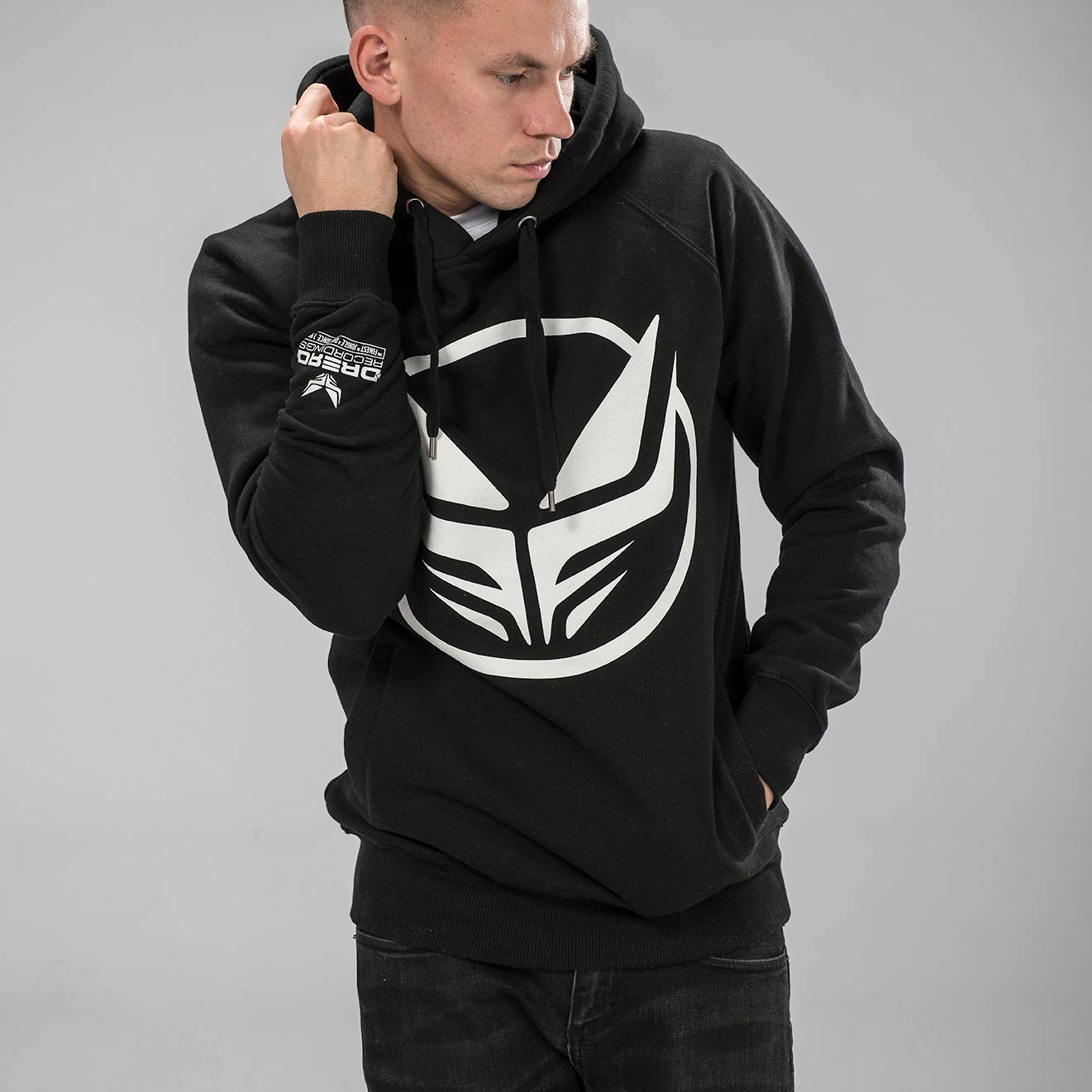 Black Dread Recordings Hoodie with White Logo