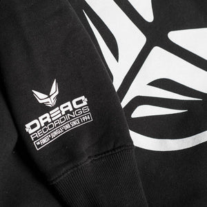 Detail on Sleeve of Black Dread Recordings Hoodie