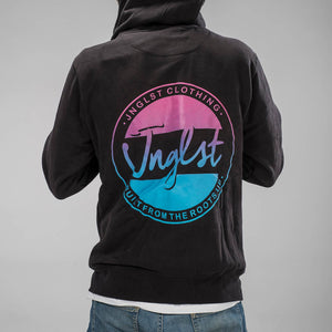 Faded Jnglst Design on the back of our Fader Hoody