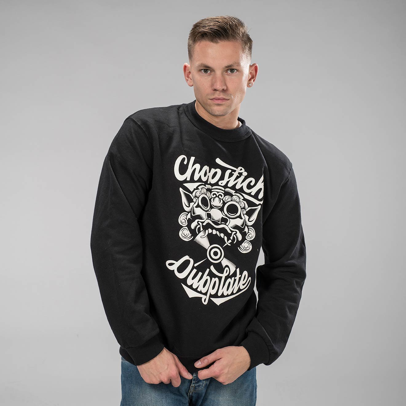 Chopstick Dubplate Black Sweatshirt