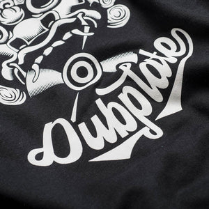 Chopstick Design On A Black Sweatshirt Close Up