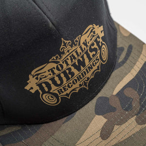 Close up of Camo Peak on Dubwise Cap
