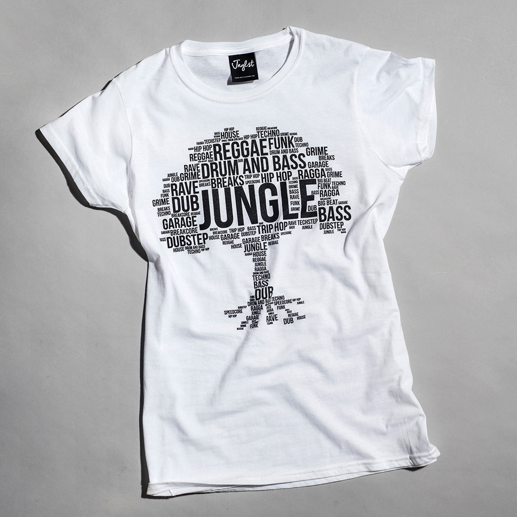 White Jungle Roots Womens T Shirt