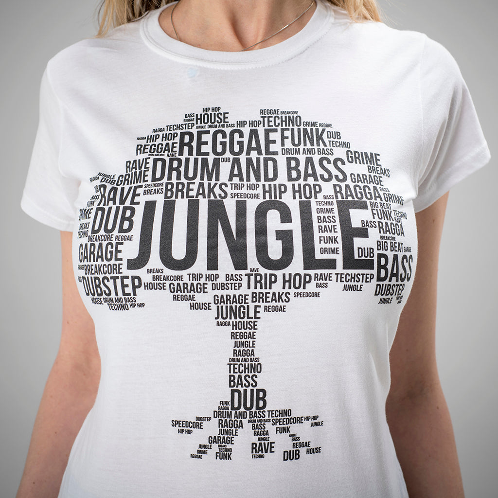 White Jungle Roots T Shirt for Women