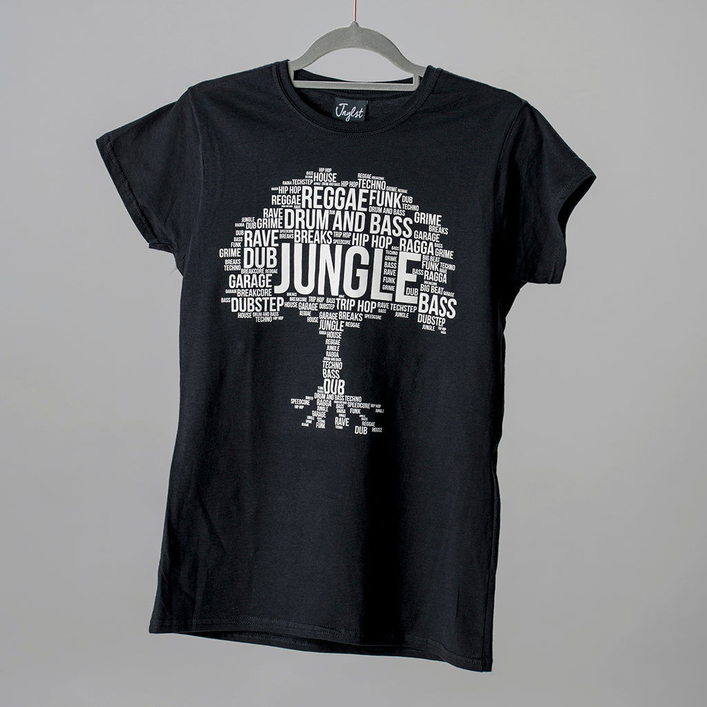 Black Womens Junglist Roots T Shirt