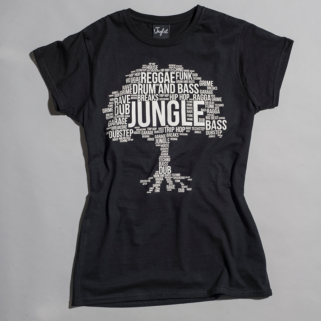 Black Womens Junglist Network Jungle Roots Tee