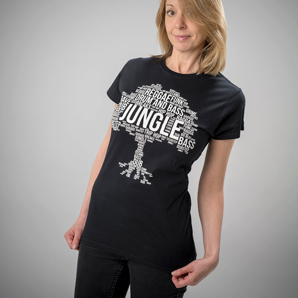 Black Jungle Roots T Shirt for Women