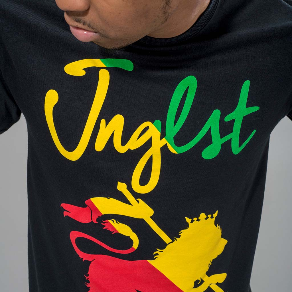 Jnglst Tribe T-Shirt in Reggae Colours