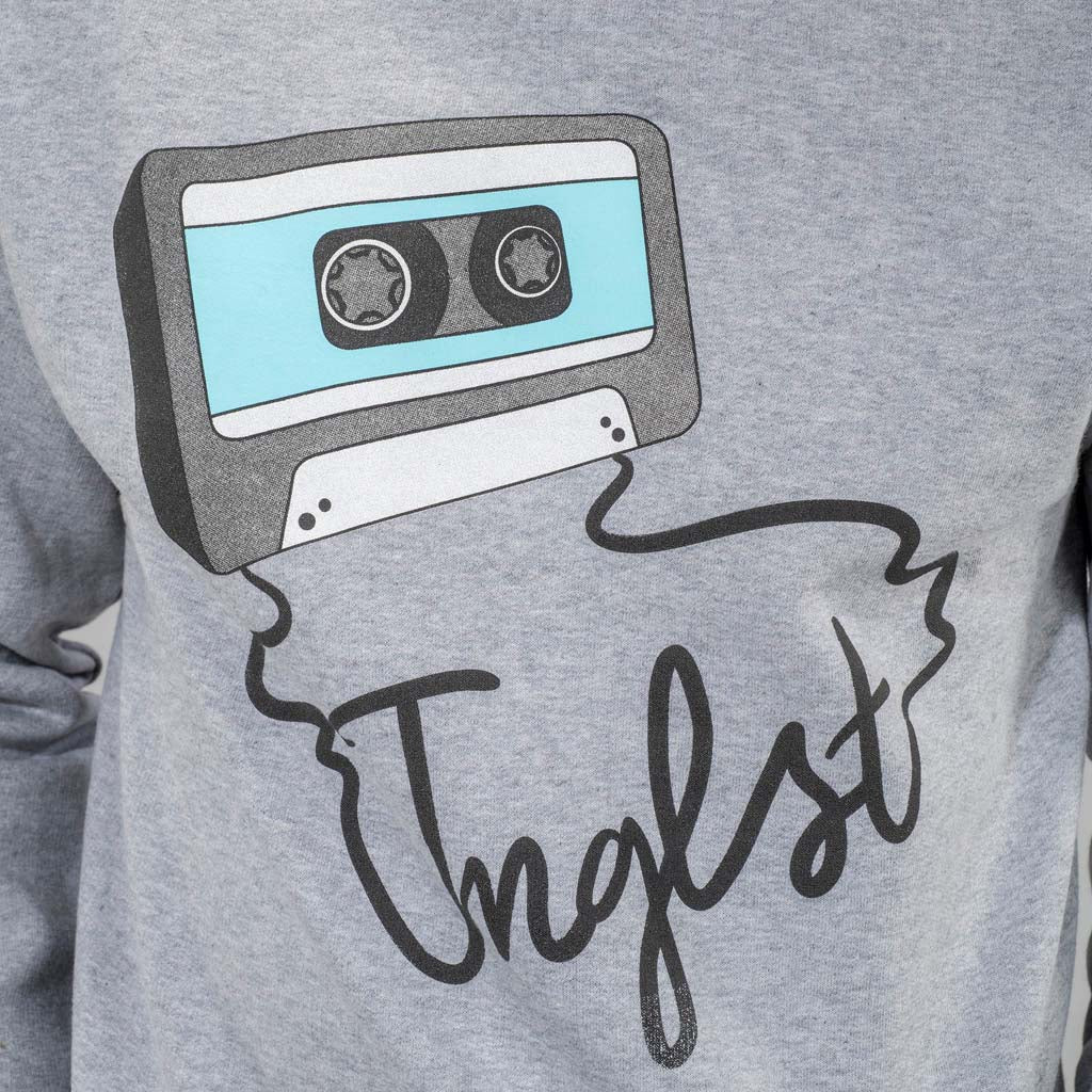 Close up of Junglist Network Mixtape sweat