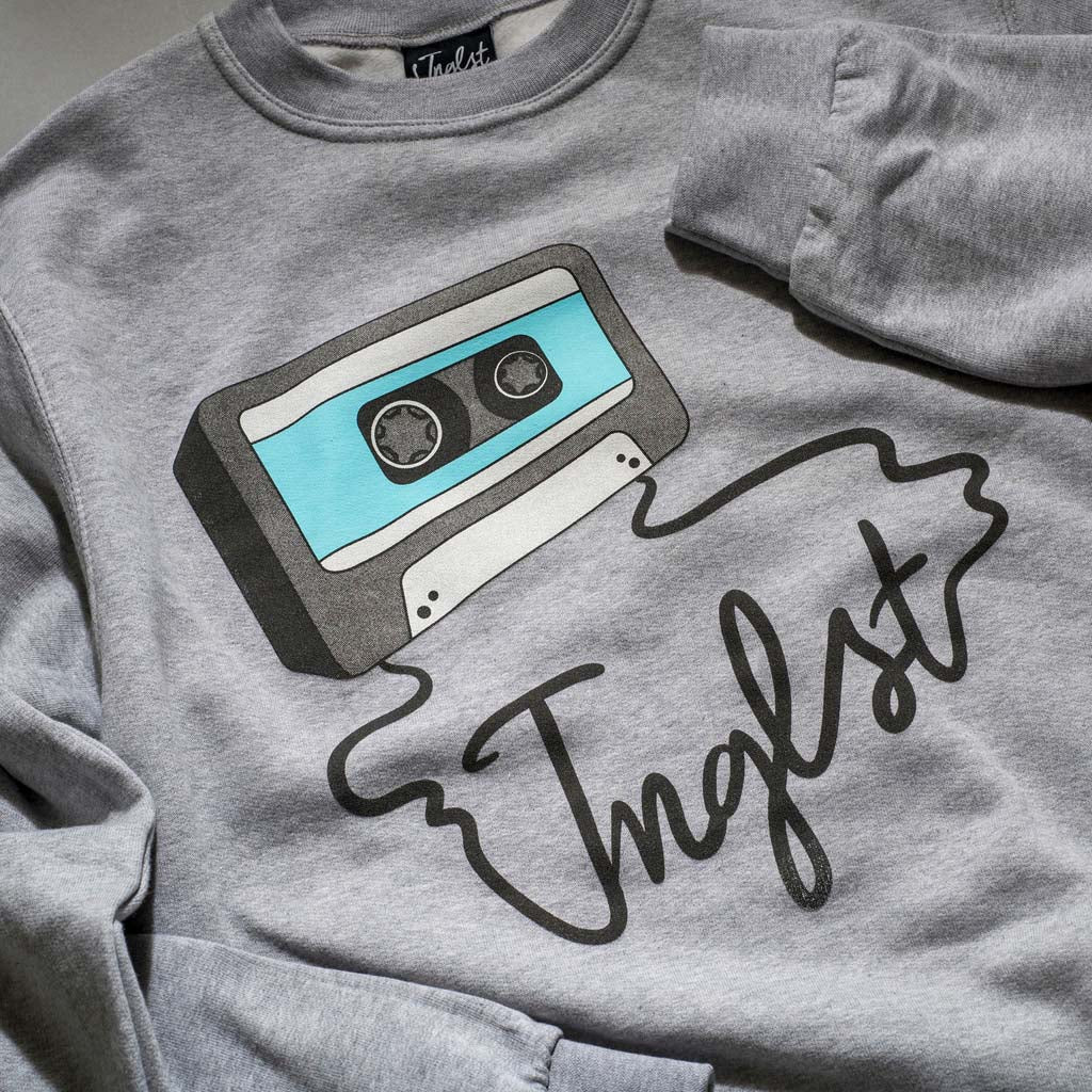 Grey Mixtape Sweatshirt close up