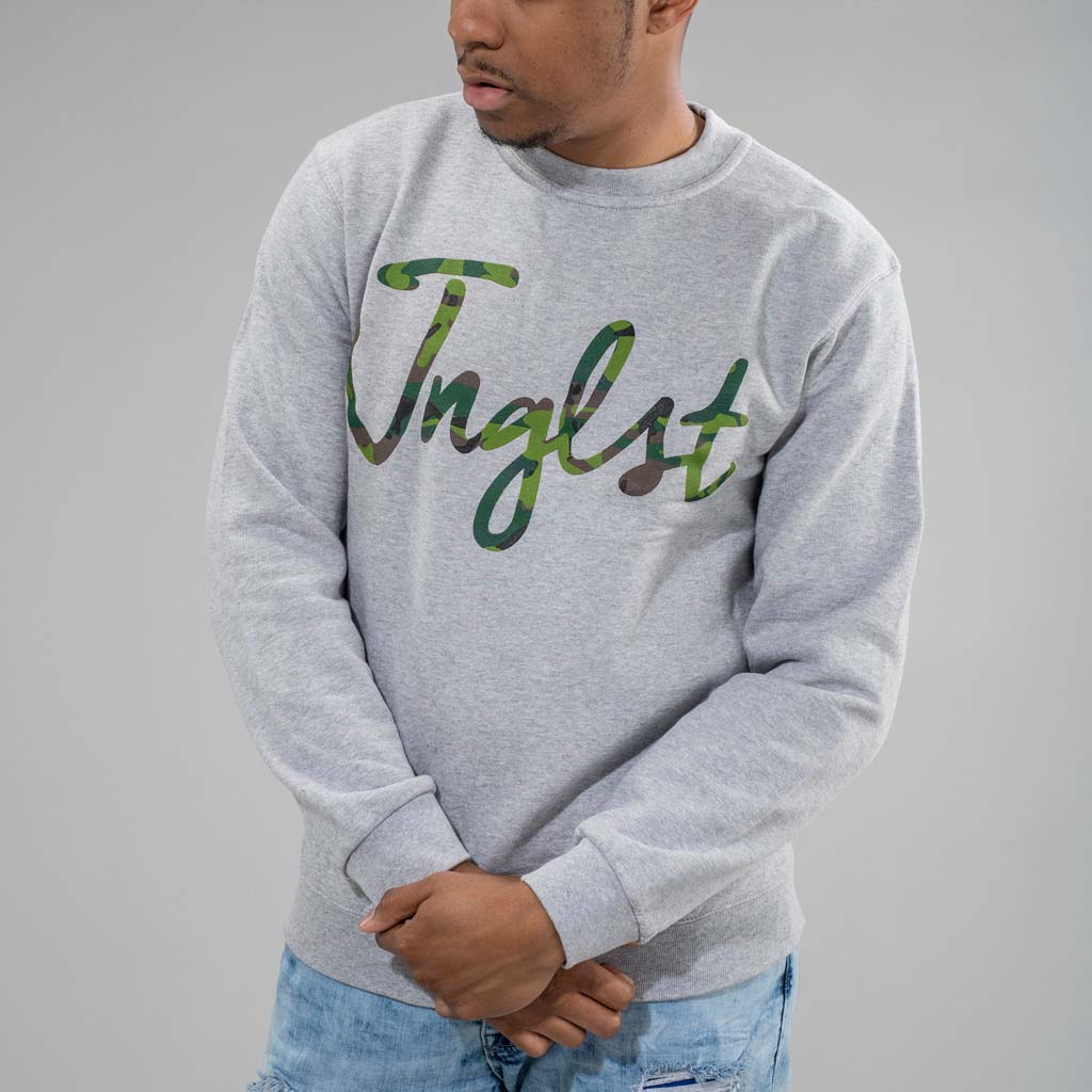 Jnglst Grey Sweatshirt with Full camo print