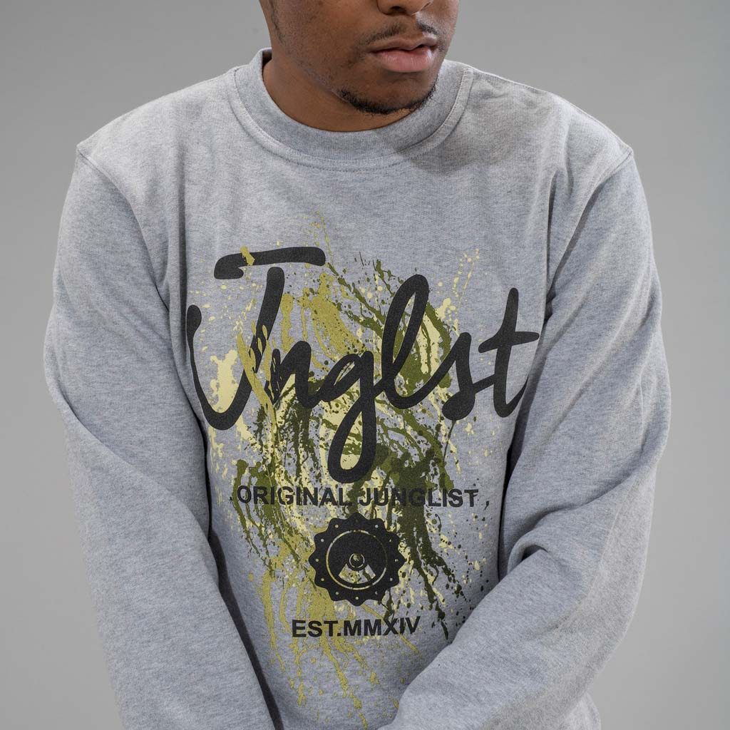 Grey Paint Splatter Junglist Sweatshirt
