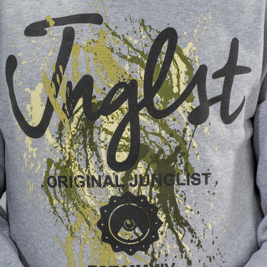 Paint Splatter Junglist Sweatshirt close up
