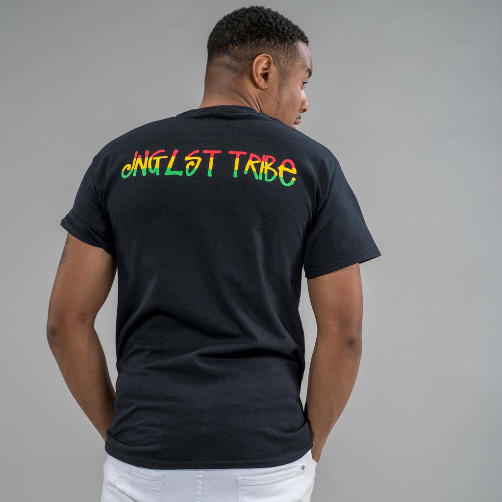 Jnglst Tribe Black T-Shirt Back