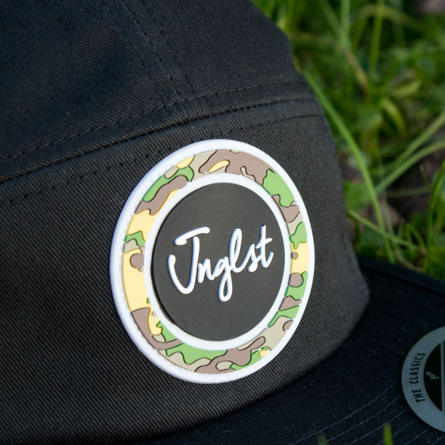 Black Jockey Cap with Jnglst Patch