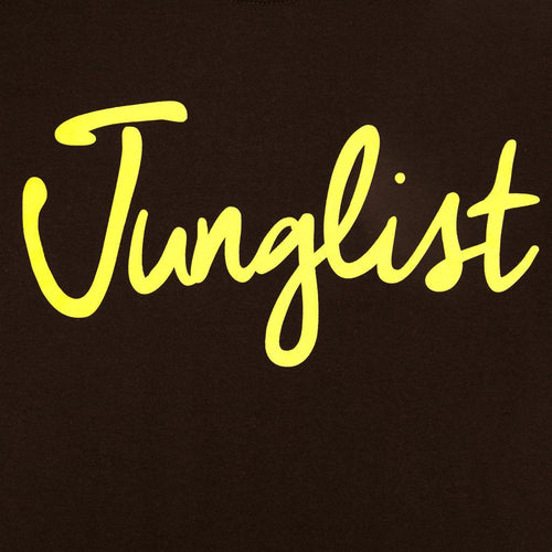 Junglist Brown Tee close up