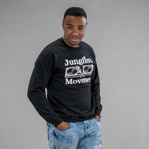 Junglist Movement Black Sweatshirt from Aerosoul
