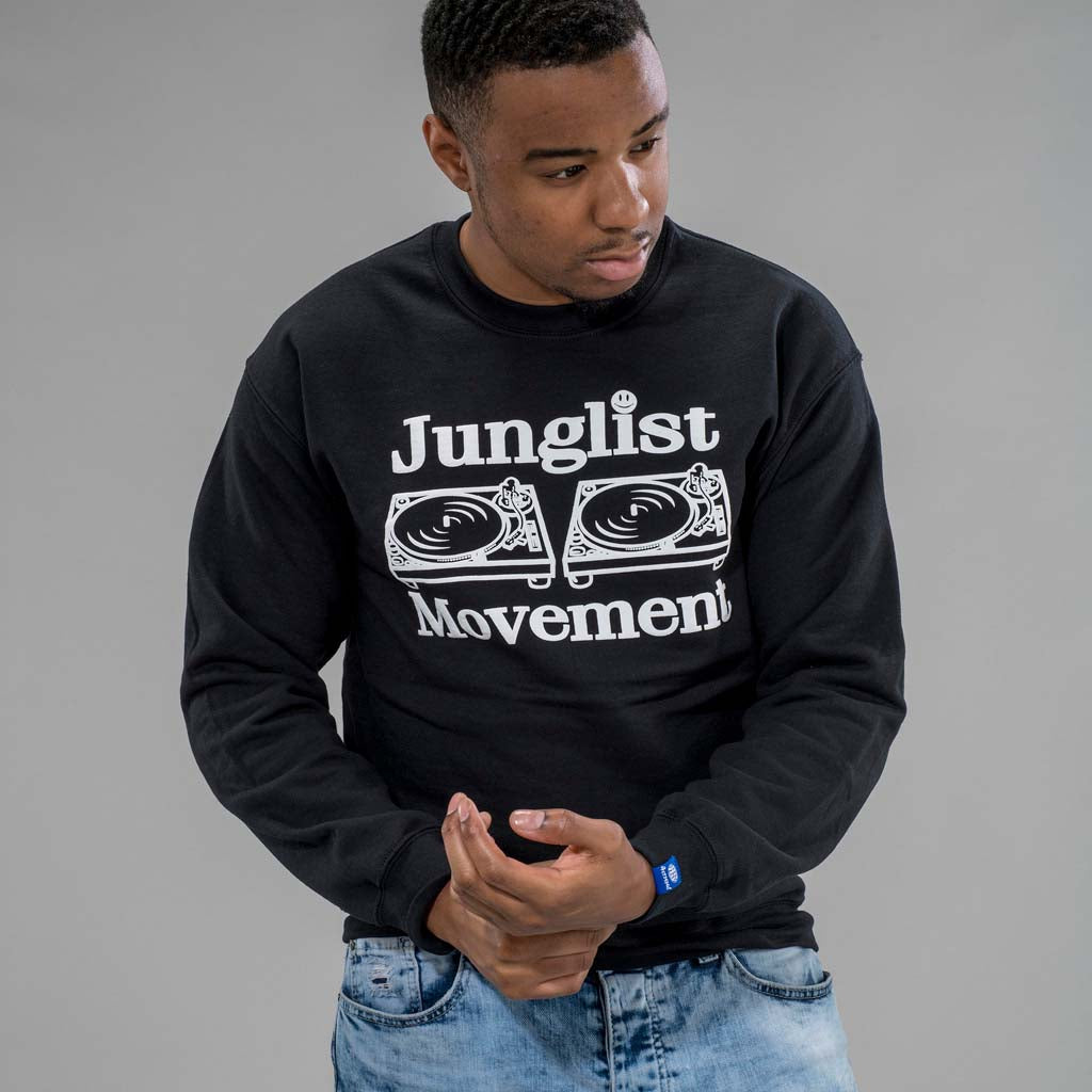 Junglist Movement Sweatshirt in Black