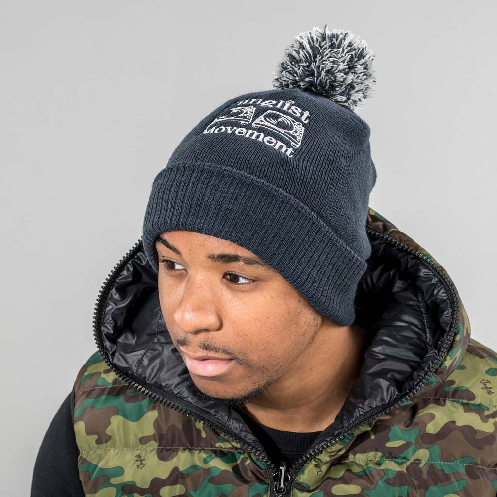 Navy Junglist Movement Beanie