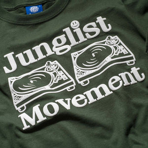 Junglist Movement T-Shirt in Dark Green