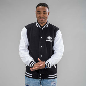Junglist Movement Varcity Black and White Jacket