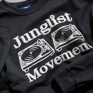 Junglist Movement Close up of Black Sweatshirt