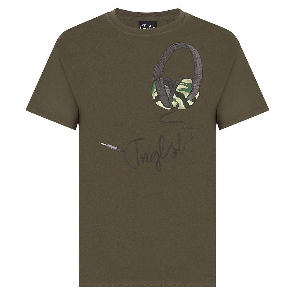 Jnglst Olive Headphone tee