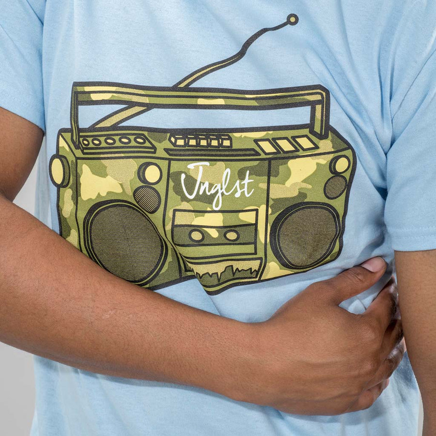 Light Blue Ghetto Blaster T-Shirt