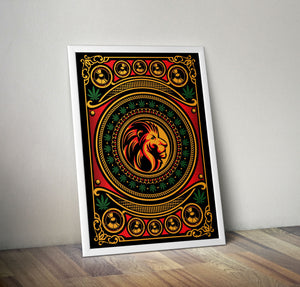 Jungle Lion Artwork, A2 Fine Art Print