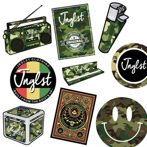 5 Mixed Jnglst Stickers