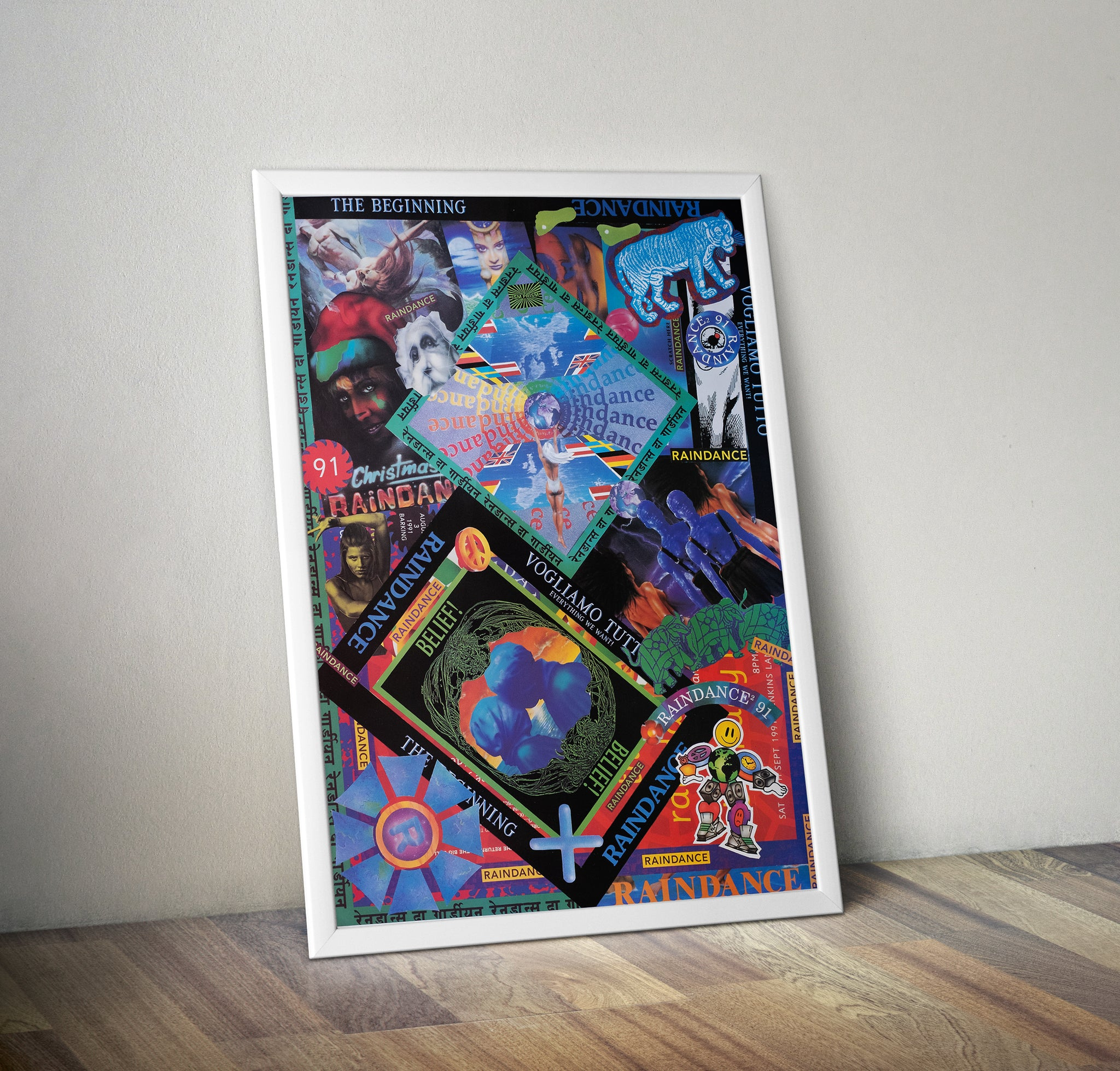 PEZ Raindance Collage Art Print