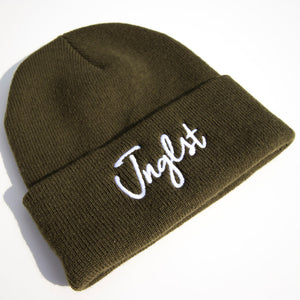Olive Junglist Beanie by Jnglst Clothing