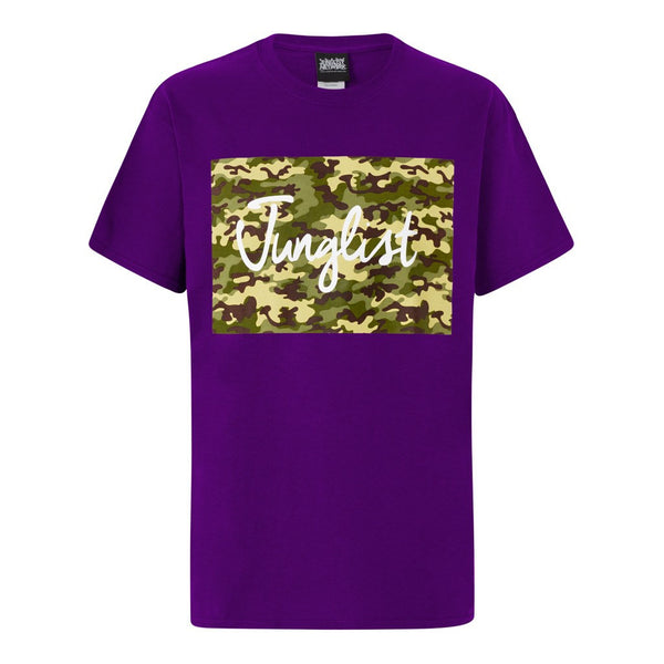 Purple Camo Block Junglist Tee