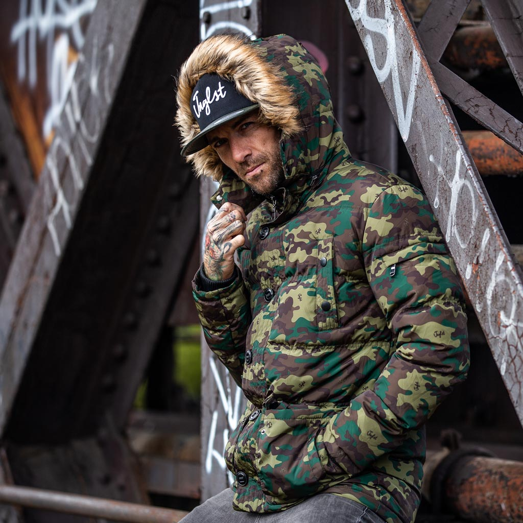 Winter Camo Parka for Junglists
