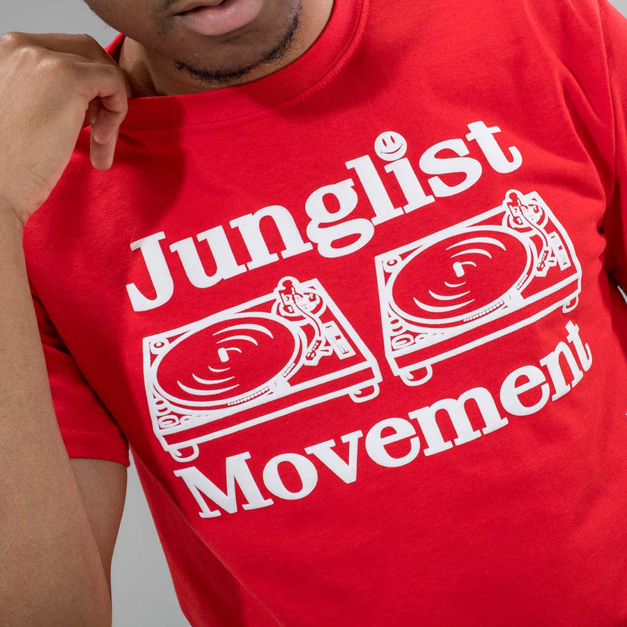 Red Junglist Movement T-Shirt from Human Traffic
